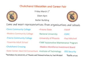Chukchansi Education & Career Fair
