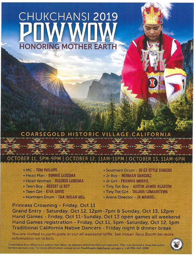 2019 Chukchansi PowWow (Honoring Mother Earth) @ Coarsegold Historical Village