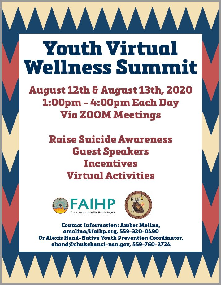 Youth Virtual Wellness Summit @ Zoom Meeting