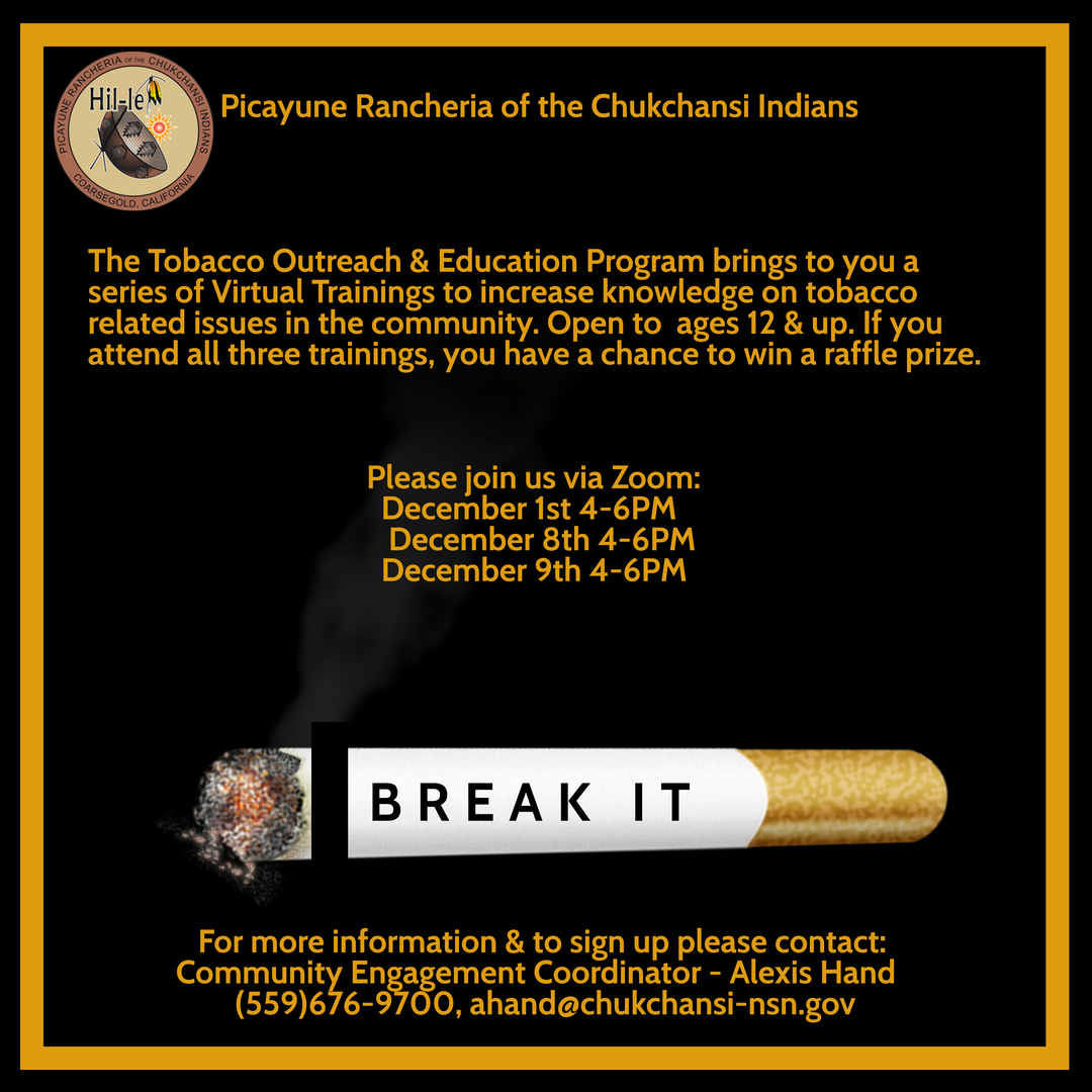 Tobacco Outreach & Education Program Virtual Trainings