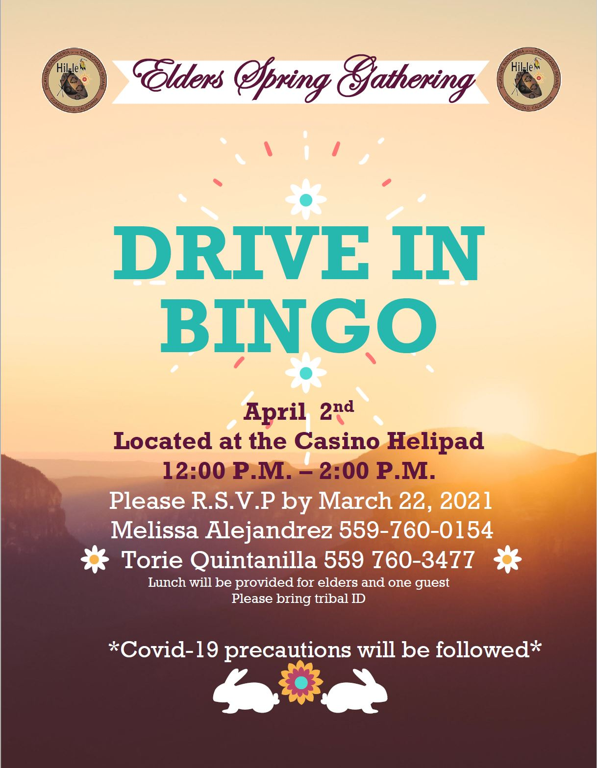 Elders Spring Gathering (Drive in Bingo)