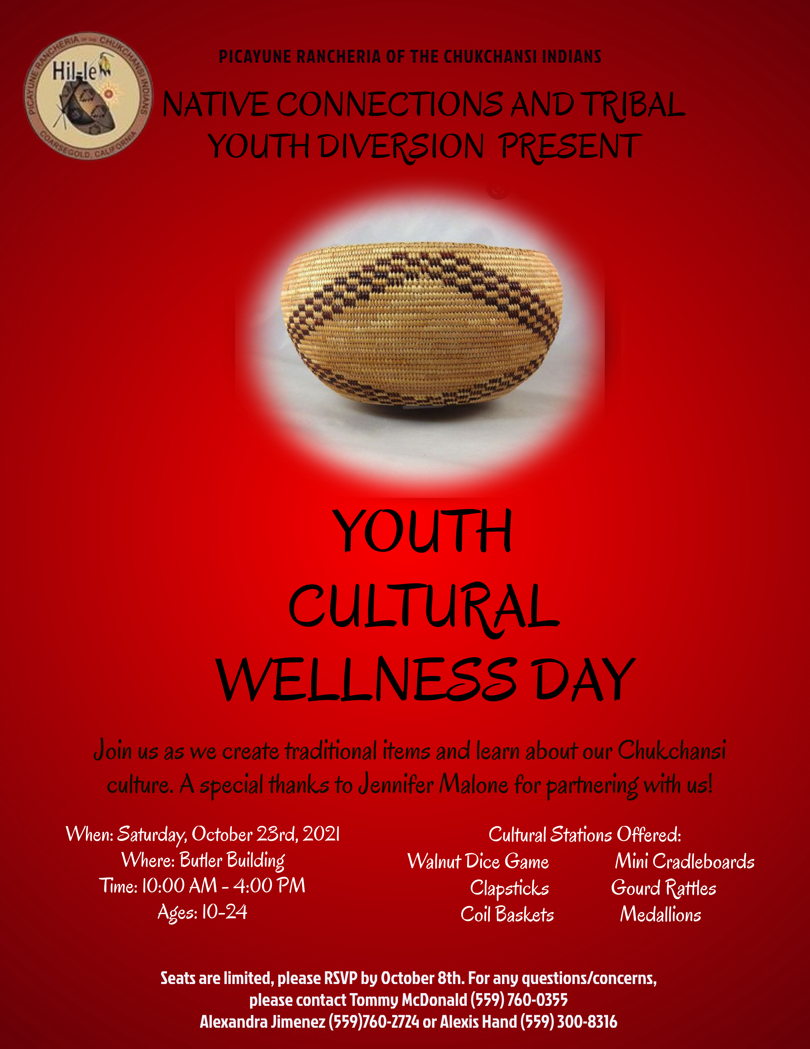 Youth Cultural Wellness Day @ Butler Building